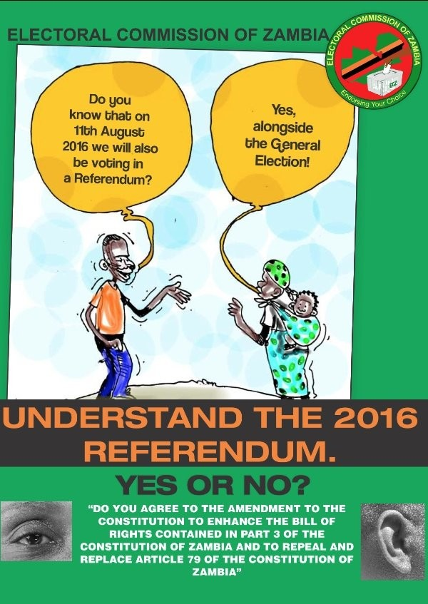 A constitutional referendum will held in Zambia on...